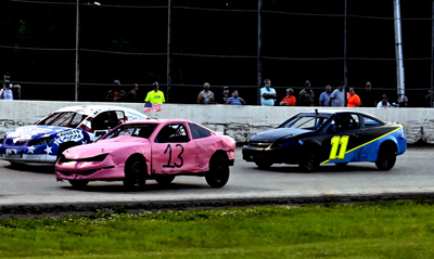Nathan Smart, Michael Whalen and Jacob Fountain battle for the lead