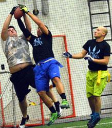 wrestling for the ball
